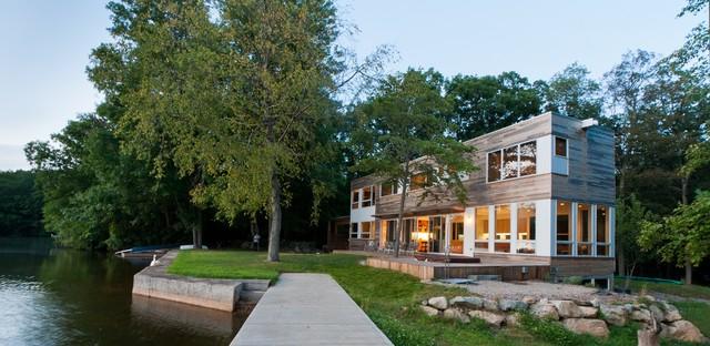 Lake Iosco House exterior modern-exterior