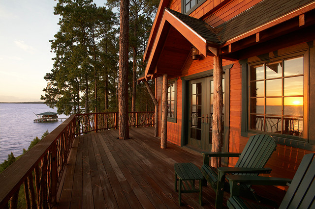High Quality Lake Livingston Treehouse Eclectic Exterior