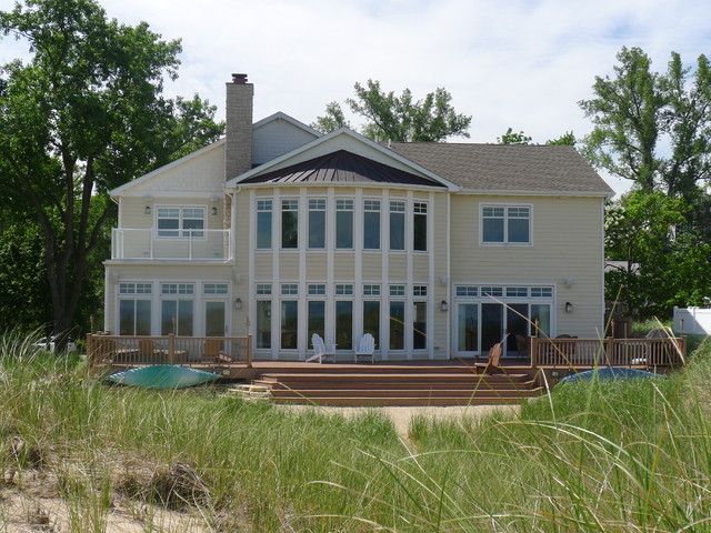 Lake Michigan Beach House traditional-exterior