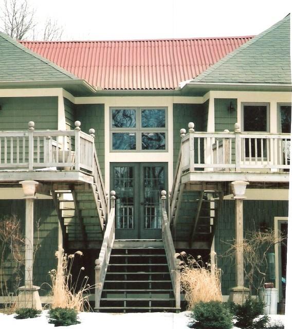 Lake Michigan Home and Gazebo eclectic-exterior