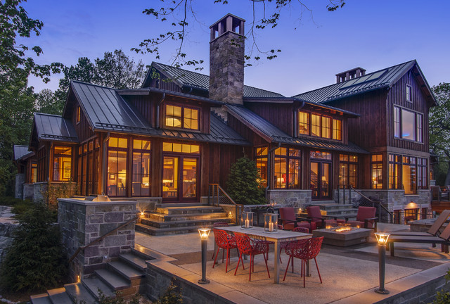 Lake Michigan Home Rustic Exterior Milwaukee By Deep River Partners