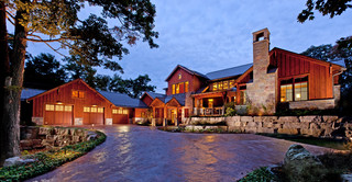 Lake Michigan Home - Rustic - Exterior - milwaukee - by Deep River Partners
