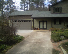 Lake Pine Drive ,Cary. Garage and Remodel traditional-exterior
