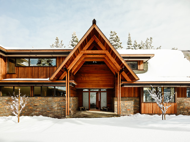 Lake tahoe house rustic exterior other by faulkner for Tahoe architects
