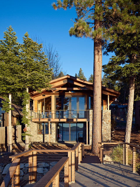 Lake tahoe residence contemporary exterior san for Tahoe architects
