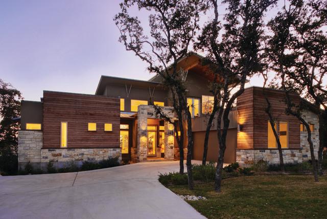 Lake travis view contemporary exterior austin by for Danze e davis architects
