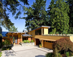 Lake Washington Residence midcentury exterior