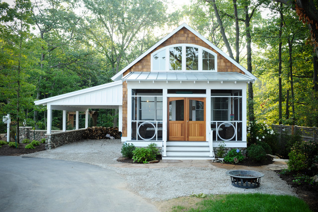 LakeBridge Guest Cottage eclectic-exterior