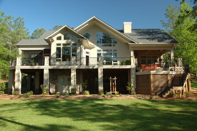 Lakefront airpark traditional exterior charlotte for Pippin home designs