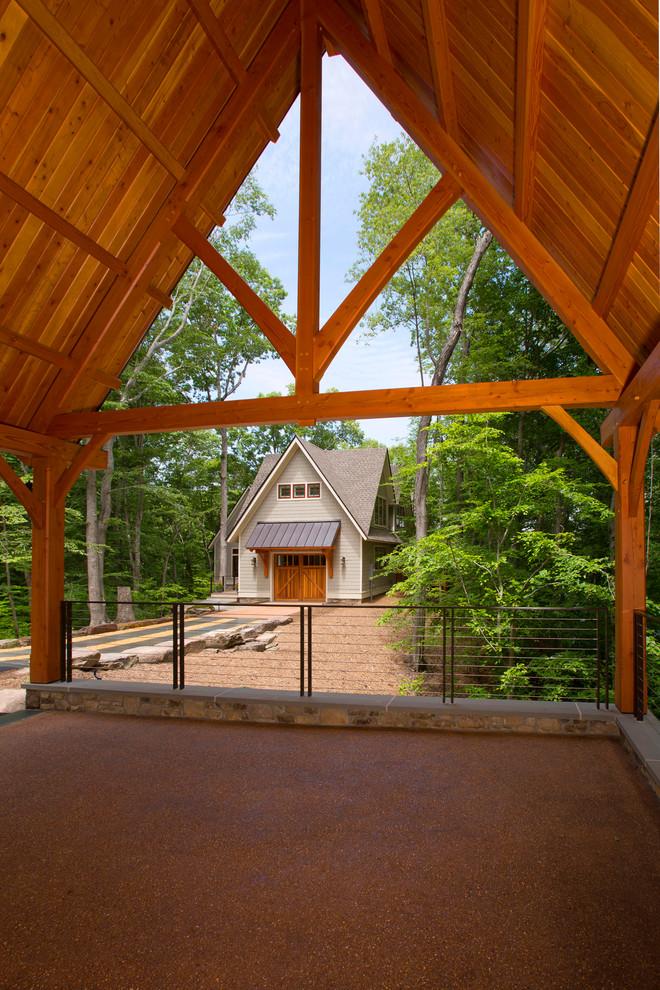 Idee per la facciata di una casa in montagna