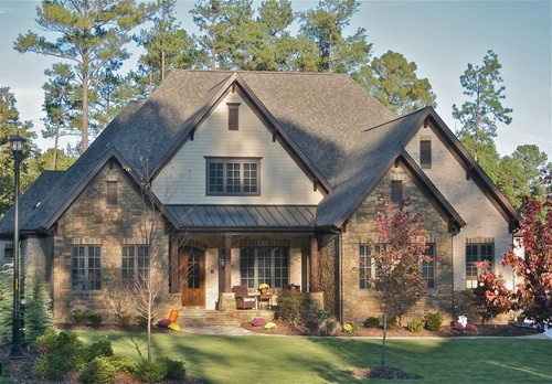 What are the colors of brick,stone,paint and roof