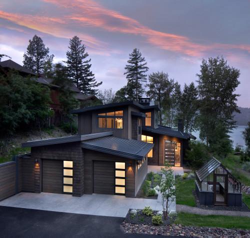 แปลนแบบบ้านชั้นครึ่ง 03 lakeside modern