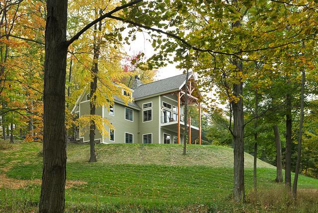 LakeView timber frame exterior traditional-exterior