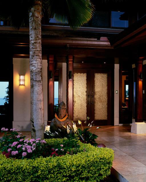 Lanikai Beach Balinese tropical-exterior