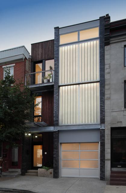 Lantern House Street Facade modern-exterior