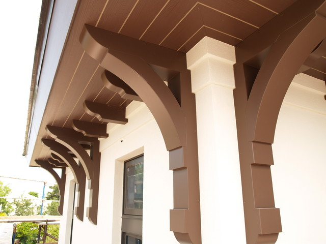 Large builder brackets traditional exterior miami for Architectural corbels and brackets