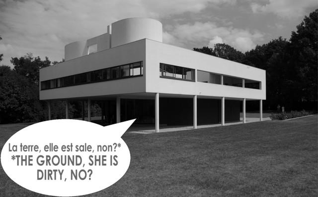 Le corbusier villa savoye exterior by jody brown for 5 points corbusier