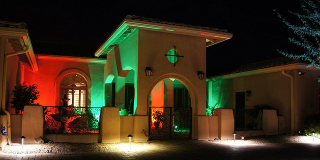 LED Exterior Wall Wash Lighting - Mediterranean - Exterior - St ...
