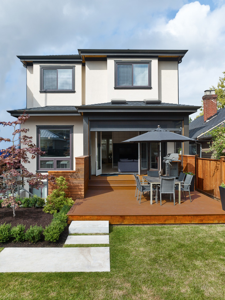 Example of a trendy exterior home design in Vancouver