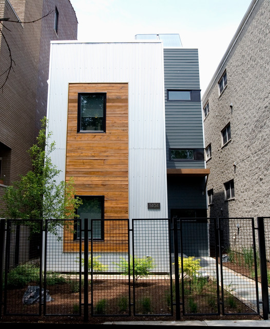 Modern House Exterior Materials: LEED Platinum Prefab Home In West Town
