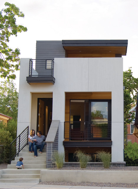 Leed Prefab Urban Infill Residence Modern Exterior