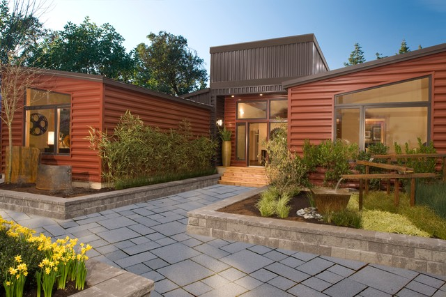 Leschi custom modular home for Modern prefab homes seattle