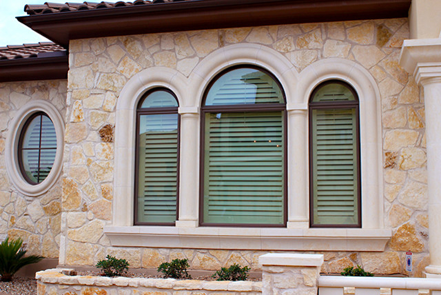 Leslie hill country house contemporary exterior for Window fashions of texas