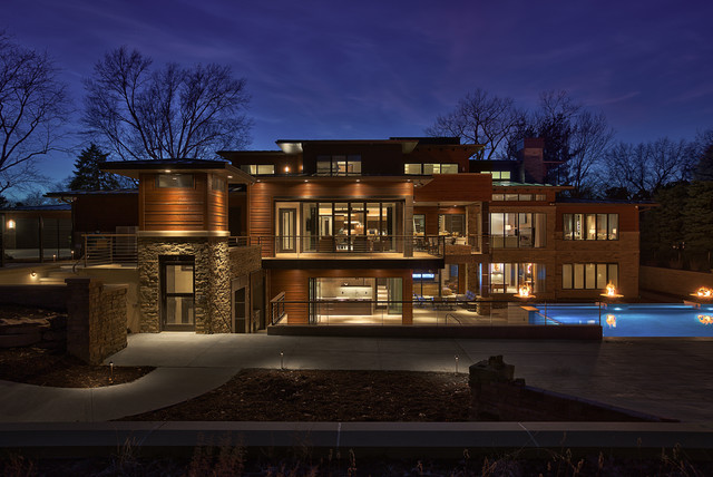 lighting contemporary exterior omaha by echo systems