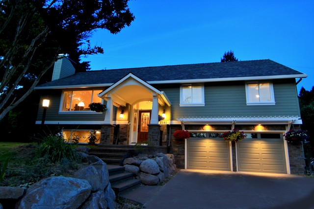 Home Remodeling Portland Exterior Decoration Awesome Raised Ranch Exterior  Houzz Design Ideas