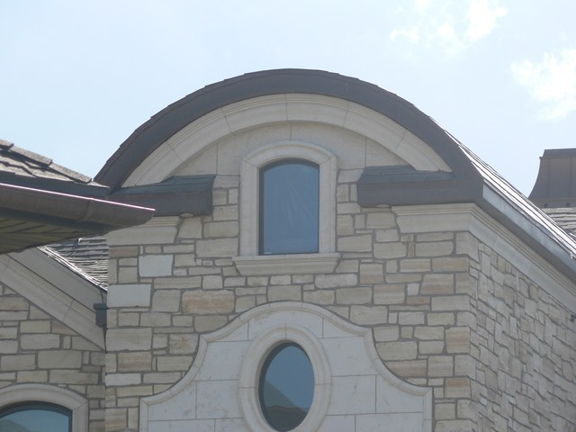 Limestone cornice window surrounds and pediment for Exterior pediments