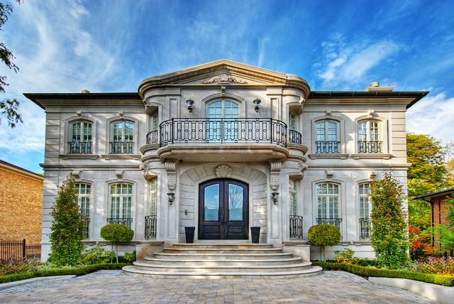 Elegant exterior home photo in Toronto & Limestone Home - Traditional - Exterior - Toronto - by Shouldice Media