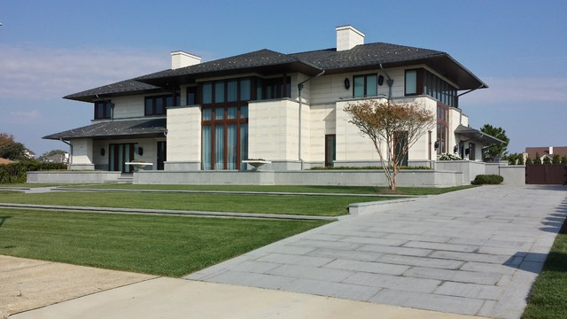 LIMESTONE PANELS IN NEW JERSEY Contemporary Exterior New York By Arch