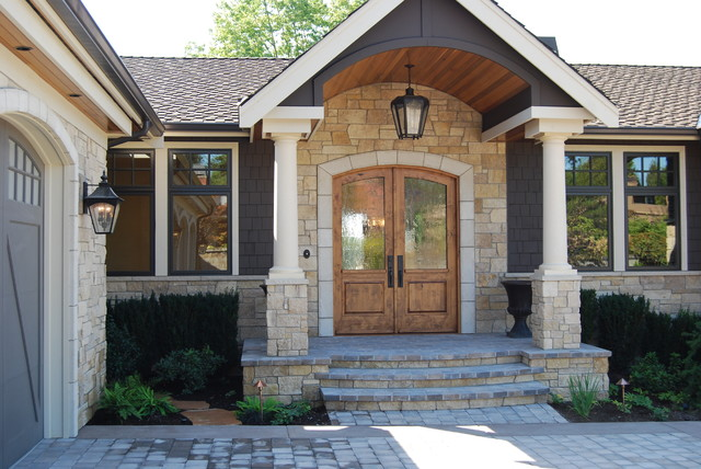 Limestone surrounds accent this beautiful Medina home
