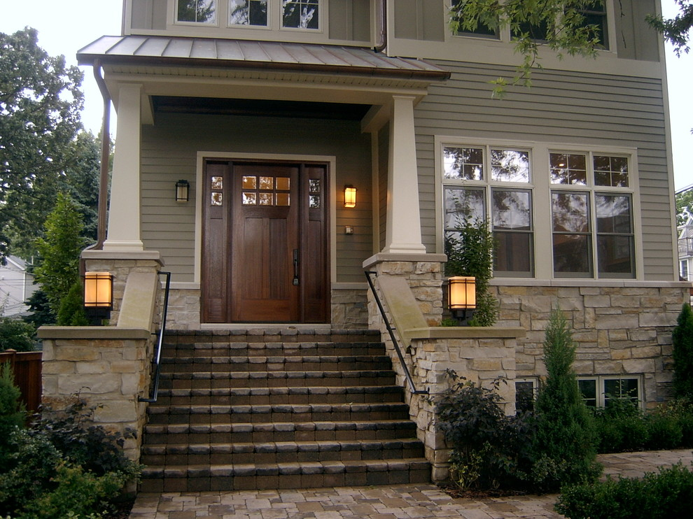 Traditional exterior home idea in Chicago