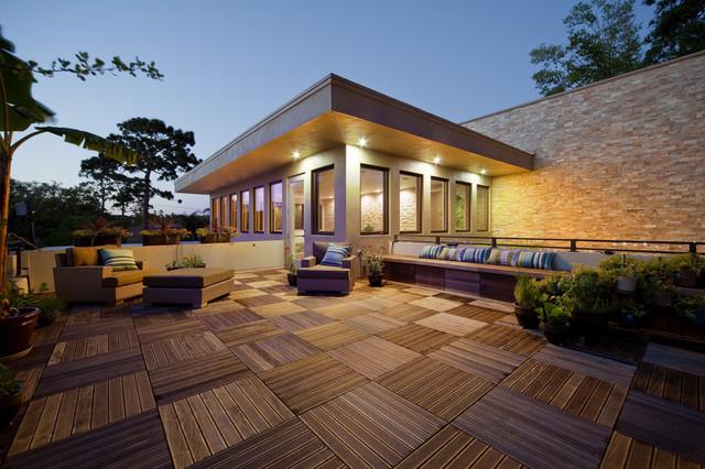 Linear Stone Porch Contemporary Exterior Orlando  : contemporary exterior from www.houzz.com size 640 x 426 jpeg 114kB
