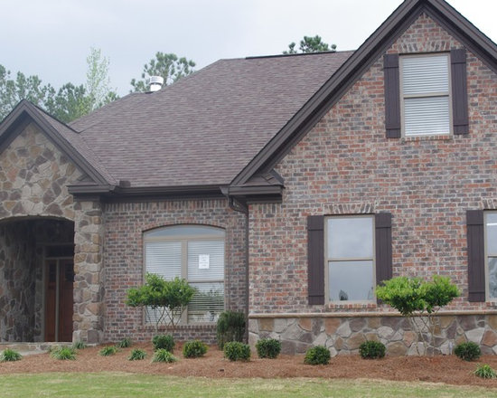 Brick stone combination home design ideas pictures for Brick stone combinations