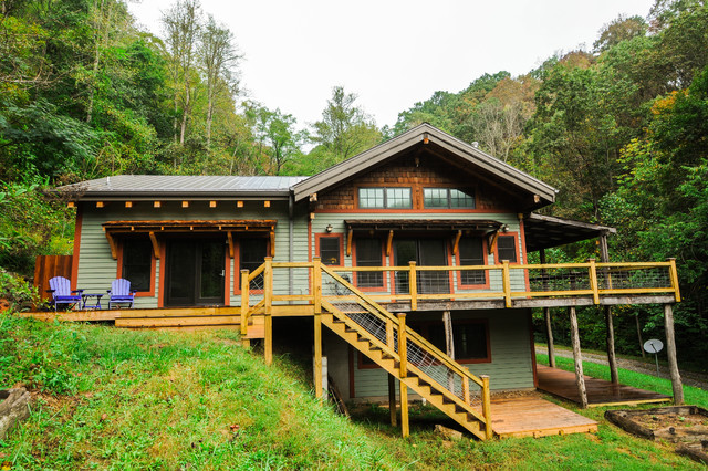 Example of a mountain style exterior home design in Other