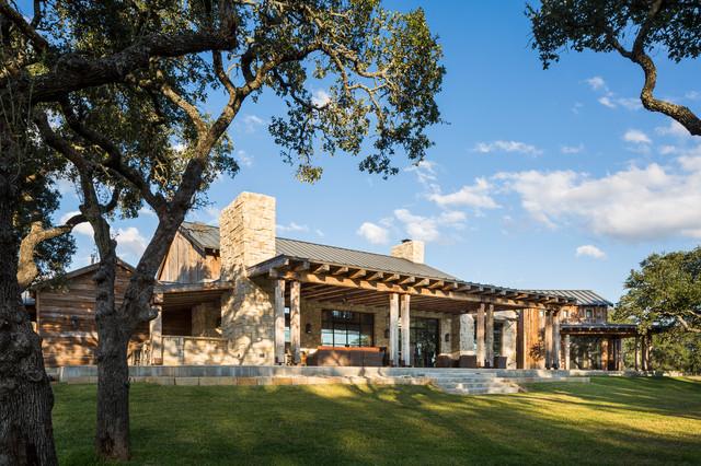 Llano Ranch Rustic Exterior Austin By Cornerstone