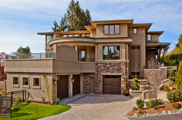 Stucco Design Ideas design ideas cool picture of home exterior design and decoration using light grey paint Inspiration For A Contemporary Stone Exterior