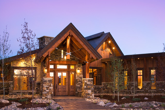 Lodge at Trout Creek Entry - Rustic - Exterior - Denver ...