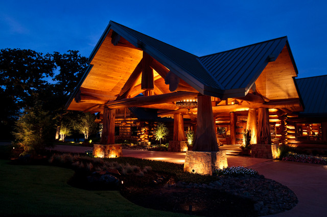 Log Cabin Awesome Traditional Exterior Dallas by Passion