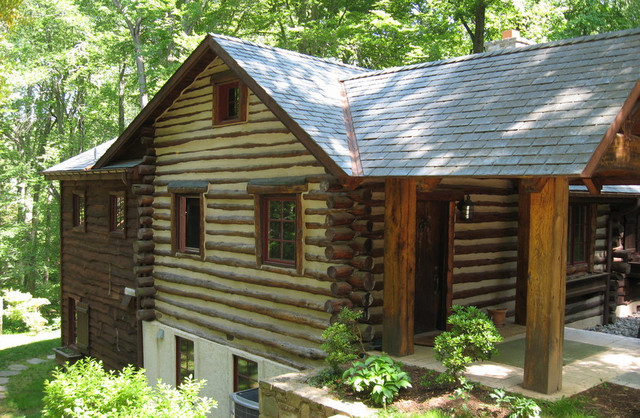 Log Cabin In Maryland Rustic Exterior Dc Metro By