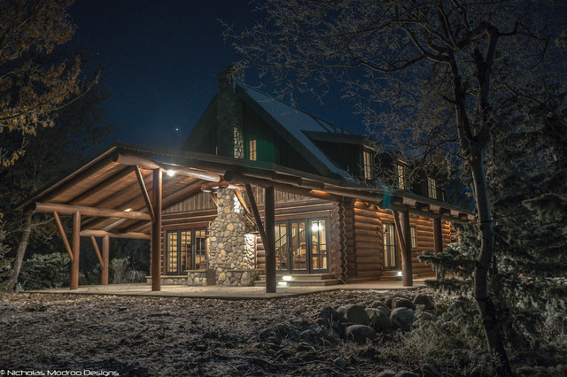Log cabin remodel addition traditional exterior for Log cabin additions ideas