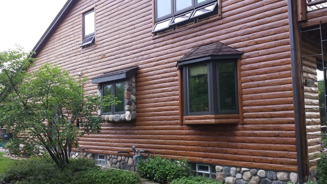 Log Cabin Siding Rustic Exterior Detroit By