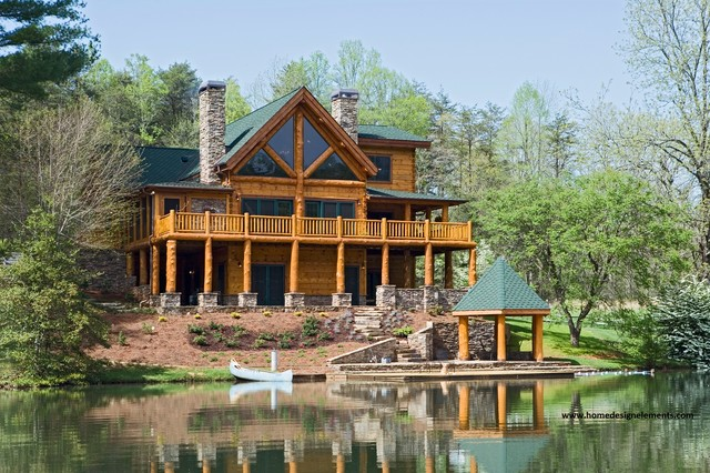 Log home edenfield traditional exterior other for Log home pictures exterior