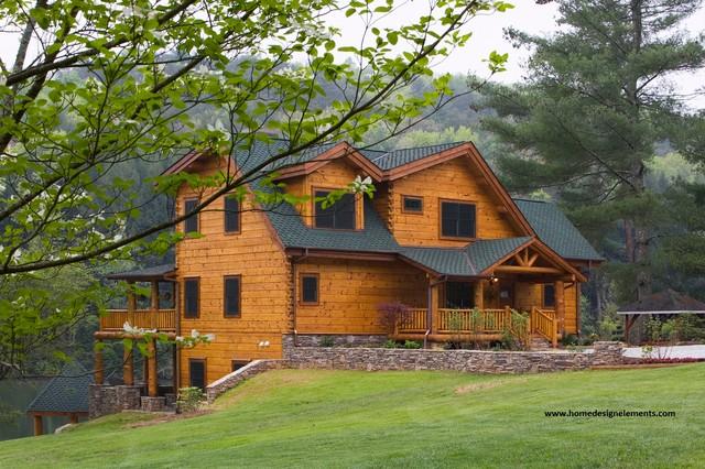 Log Home - Edenfield traditional-exterior