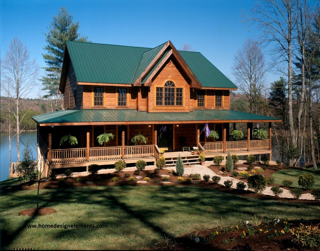 Log home traditional exterior other metro by home for Log home pictures exterior