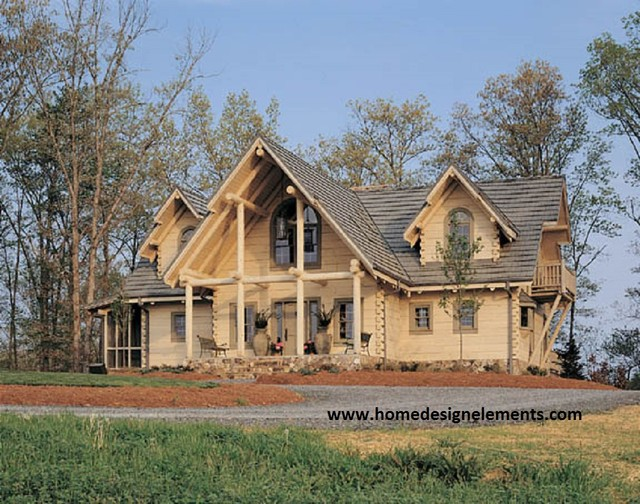 log home traditional exterior other by home design