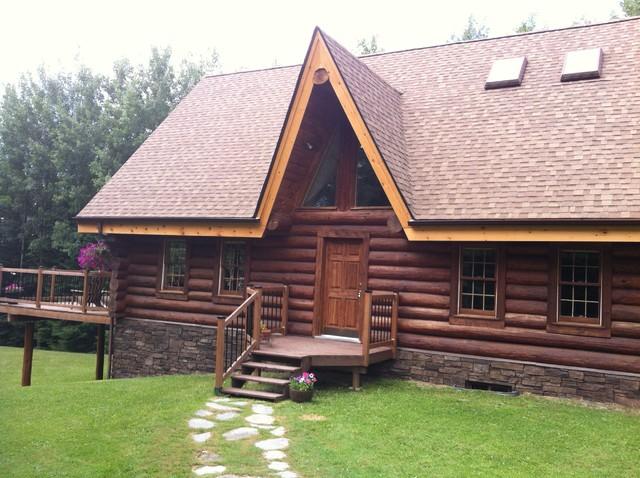 Log home north western ontario rustic exterior for Log home designs ontario
