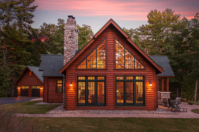 Log Lake Home Rustic Exterior Other By Dickinson Homes